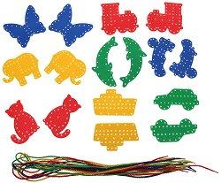 Фигурки за нанизване - Образователна играчка - хартиен модел
