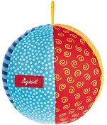 Мека цветна топка - Бебешка дрънкалка - играчка