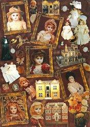 Декупажна хартия - Старинни кукли 048