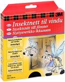 Мрежа за прозорци против насекоми - Комплект с прикрепяща лента