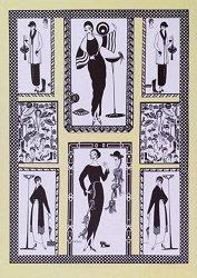 Декупажна хартия - Дами в черно и бяло 858 - Дизайн на Nina Gregory
