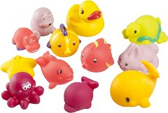 Играчки за баня - За момичета - Комплект от 12 броя -