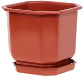 Квадратна пластмасова саксия - Дрина - Цвят керамика
