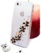 "Калъф за iPhone 5 - Дизайн ""Златни цветя в черно"" - продукт"