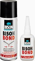 Универсално секундно лепило - Bison Bond - Комплект с активиращ спрей -