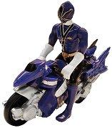 "Mini Cycle With Samurai Ranger - Water - Играчка от серията ""Power Rangers"" -"