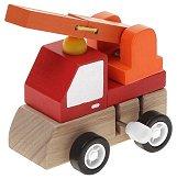 Пожарникарски камион - Дървена играчка с механизъм - играчка