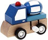 Бетонобъркачка - Дървена играчка с механизъм - играчка