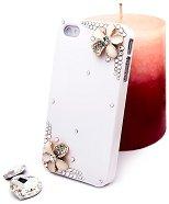 """Калъф за iPhone 4/4S - Дизайн """"Нежни цветя в бяло"""" - продукт"""
