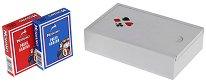 Карти за покер - Комплект 2 тестета в дървена кутия -