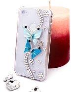 """Калъф за iPhone 4/4S - Дизайн """"Сини пеперуди"""" -"""