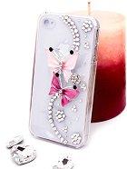 "Калъф за iPhone 4/4S - Дизайн ""Розови пеперуди"" -"