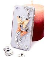 "Калъф за iPhone 4/4S - Дизайн ""Оранжеви пеперуди"" - продукт"