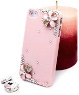 """Калъф за iPhone 4/4S - Дизайн """"Нежни цветя в розово"""" - продукт"""