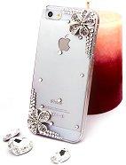 """Калъф за iPhone 5 - Дизайн """"Сребърни цветя"""" - продукт"""