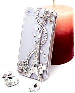 """Калъф за iPhone 4/4S - Дизайн """"Сребриста Айфелова Кула"""" - продукт"""