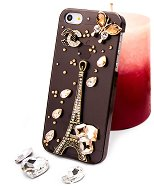 "Калъф за iPhone 5 - Дизайн ""Бронзова Айфелова Кула"" -"