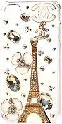 """Калъф за iPhone 4/4S - Дизайн """"Айфеловата кула в цветя и злато"""" - продукт"""