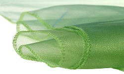 Органза - грахово зелена - Ролка 50 cm x 9 m