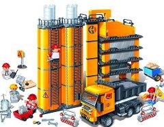"""Циментов завод - Детски конструктор от серията """"BanBao Construction"""" - играчка"""