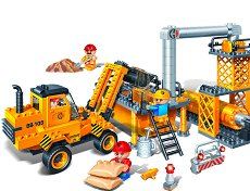 """Строителна площадка - Детски конструктор от серията """"BanBao Construction"""" -"""