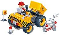 """Мини товарач - Детски конструктор от серията """"BanBao Construction"""" - несесер"""