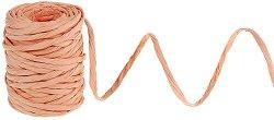 Хартиен шнур туист - цвят праскова - Ролка 5 mm x 23 m