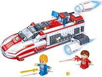 """Космически боен кораб - Детски конструктор от серията """"BanBao Journey V"""" - играчка"""