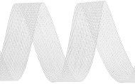 Тъкана хартиена панделка - бяла - Ролка 3 cm x 14 m