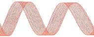 Тъкана хартиена панделка - оранжева - Ролка 3 cm x 14 m