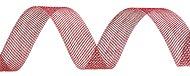 Тъкана хартиена панделка - червена - Ролка 3 cm x 14 m