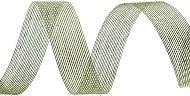 Тъкана хартиена панделка - грахово зелена - Ролка 3 cm x 14 m