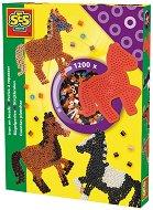 Мозайка с мъниста - Коне - Комплект от 1200 броя - играчка