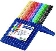 Цветни ергономични моливи - Ergosoft 157 - Комплект от 12 цвята