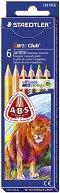 Цветни ергономични моливи - Noris Club 128 Jumbo - Комплекти от 6 и 10 цвята