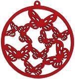 Кръгче с пеперуди - Дървена фигурка за изработка на бижута