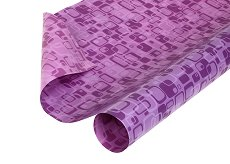 Двустранен опаковъчен лист - Правоъгълници в светлолилаво и тъмнолилаво - Целофан с размери 70 x 100 cm