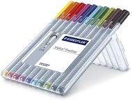 Цветни тънкописци - Triplus 334 - Комплект от 10 цвята в пластмасова кутия