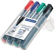 Перманентни маркери със скосен връх- Lumocolor 350 - Комплект от 4 цвята