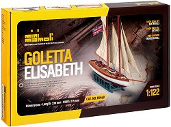 Великобританска шхуна - Goletta Elisabeth - Сглобяем модел на кораб от дърво - макет