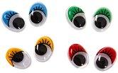 Цветни мърдащи се очички - Комплект от 40 броя
