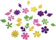 Декоративни блестящи елементи - Цветя - Комплект от 48 броя