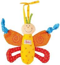 Пеперуда - Мека играчка за бебешка количка - творчески комплект