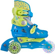 Детски ролкови кънки и ролери 2 в 1 - TriGo - Със светещи колела -