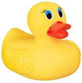 Гумено пате с индикатор за гореща вода - Бебешка играчка за баня -
