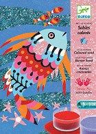 Оцветявай с цветен пясък - Рибки - играчка