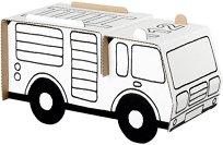 """Пожарна кола - Комплект картонен модел с маркери за оцветяване от серията """"Level 1"""" -"""