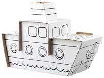 """Кораб - Комплект картонен модел с маркери за оцветяване от серията """"Level 1"""" - играчка"""
