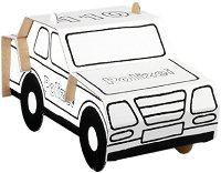 """Полицейска кола - Комплект картонен модел с маркери за оцветяване от серията """"Level 1"""" - творчески комплект"""