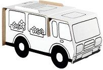 """Каравана - Комплект картонен модел с маркери за оцветяване от серията """"Level 1"""" - творчески комплект"""